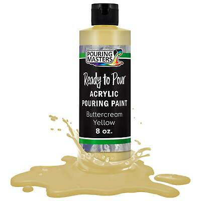 Pouring Masters Buttercream Yellow 8ozBottle Water-Based Acrylic Pouring Paint