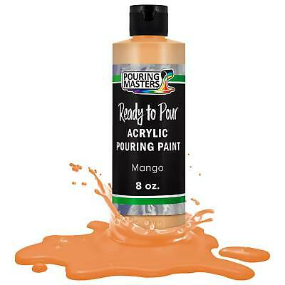 Pouring Masters Mango 8-Ounce Bottle of Water-Based Acrylic Pouring Paint