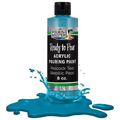Pouring Masters Peacock Teal Metallic Pearl 8-Ounce Acrylic Pouring Paint