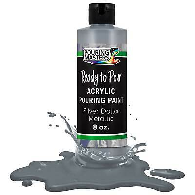 Pouring Masters Silver Dollar Metallic 8-Ounce Water-Based Acrylic Pouring Paint