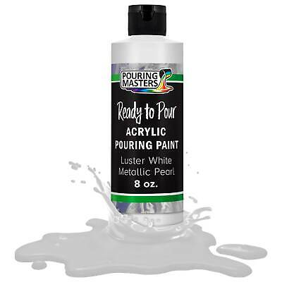 Pouring Masters Luster White Metallic Pearl 8-Ounce Acrylic Pouring Paint