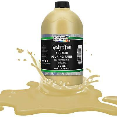 Pouring Masters Buttercream Yellow 32-Ounce (Quart) Acrylic Pouring Paint