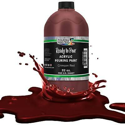 Pouring Masters Crimson Red 32-Ounce (Quart) Water-Based Acrylic Pouring Paint