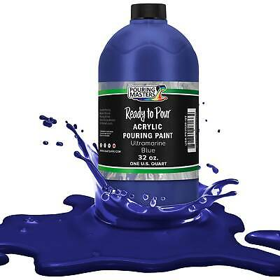 Pouring Masters Ultramarine Blue 32-Ounce (Quart) Acrylic Pouring Paint