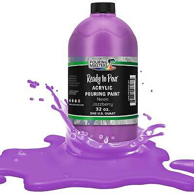 Pouring Masters Neon Jazzberry 32-Ounce (Quart) Acrylic Pouring Paint