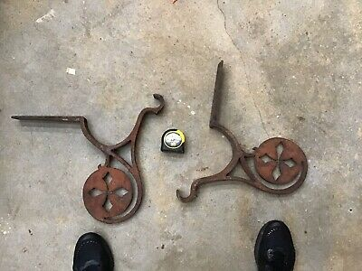 💥Antique Industrial Iron Brackets Corbels-old Building Architectural Salvage-a3