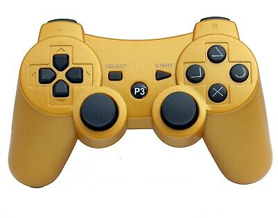 Wireless Remote PS3 Controller Gamepad for use with PlayStation3 Golden