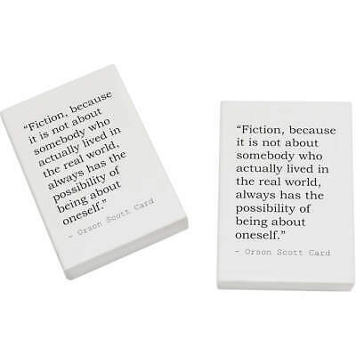2 x 45mm Quote By Orson Scott Card Erasers / Rubbers (ER00014060)