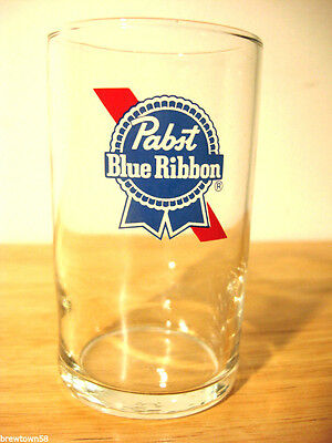 New NOS Pabst beer glass PBR glasses pub 2 color vintage 7 OZ vintage glassware