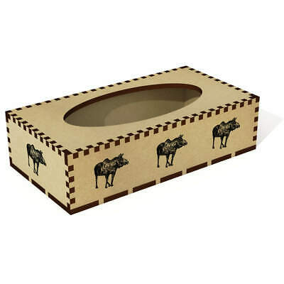 Long 'American Moose' Wooden Tissue Box Cover (TB00022276)