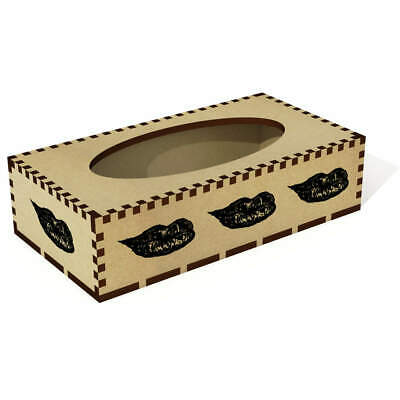 Long 'Beautiful Lips' Wooden Tissue Box Cover (TB00021966)