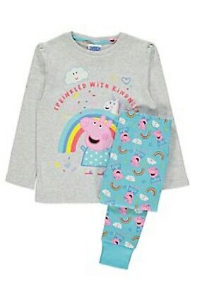 Girls Peppa Pig Unicorn Slogan Pyjamas BNWT
