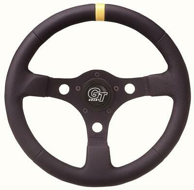 Grant 699 Suede Wrapped Racing Steering Wheel with Orange Top Marker