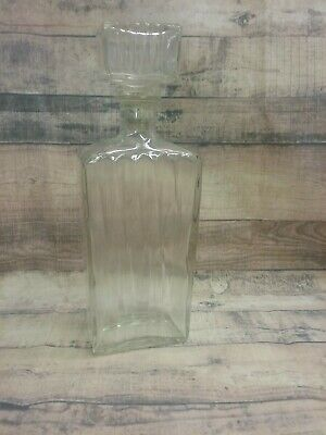Thatcher Glass Manufacturing Company Clear Glass Liquor Decanter