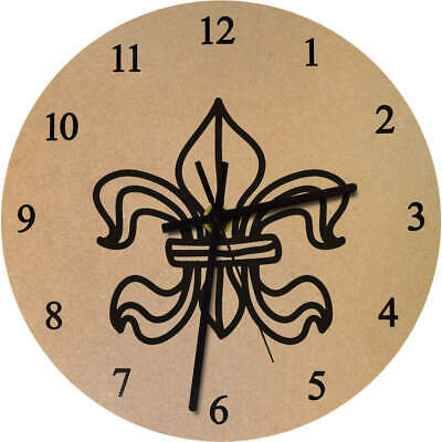 'Ornate Shape' Printed Wooden Wall Clock (CK018939)