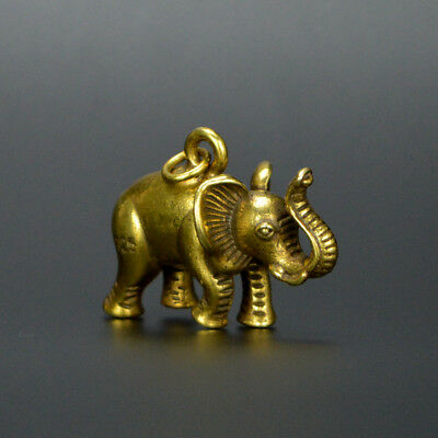 Chinese old collection handwork bronze Elephant tea pet statue Pendant