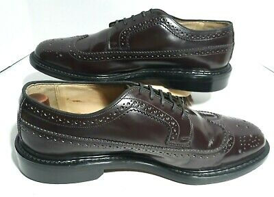 ⭐️ VTG 1970s SEARS Brogue Longwing WINGTIP CORDOVAN 11 EE LEATHER OXFORD Shoe ⭐️