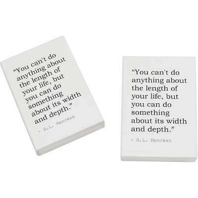 2 x 45mm Inspirational Quote By H.L. Mencken Erasers / Rubbers (ER00018739)