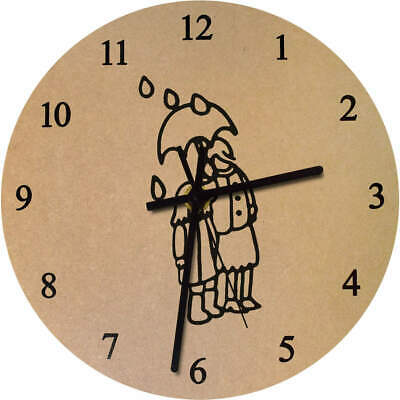 'Rainy Day' Printed Wooden Wall Clock (CK019781)