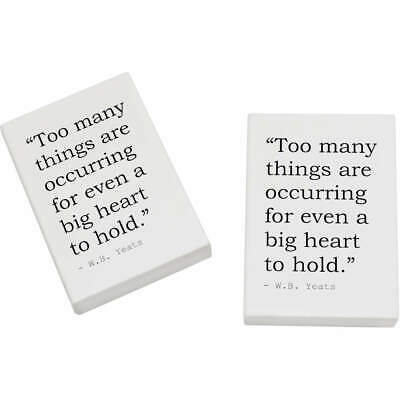 2 x 45mm Quote By W.B. Yeats Erasers / Rubbers (ER00019770)