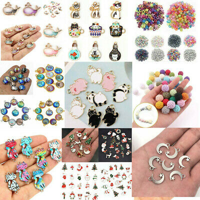 Wholesale Enamel Metal Mixed Charm Pendant DIY Jewelry Making Crafts Accessories