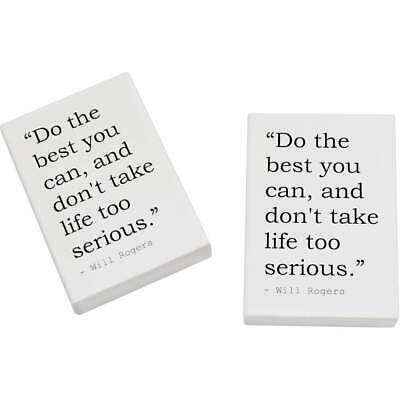 2 x 45mm Happiness Quote By Will Rogers Erasers / Rubbers (ER00020939)