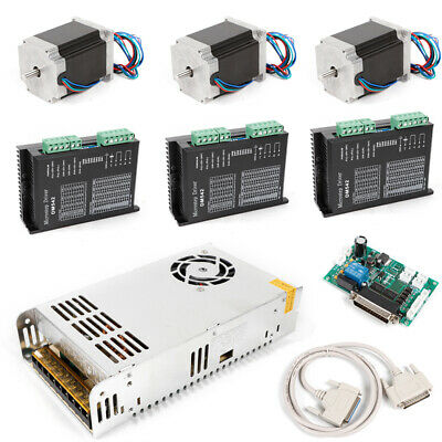 CNC Router 3 Axis Nema 23 stepper Motor 425oz-in Driver DM542A 4.2A Power kit DE