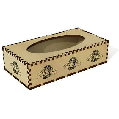 Long 'Beautiful Girl' Wooden Tissue Box Cover (TB00028484)