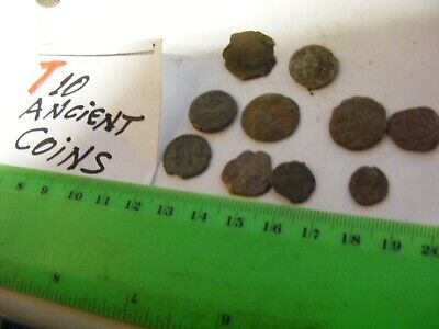 Lot of 10  worn mixed conditions Ancient  mostly Roman Coins(T).