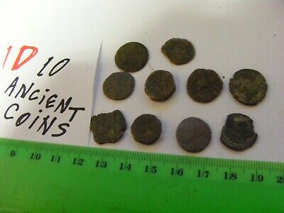 Lot of 10  worn mixed conditions Ancient  mostly Roman Coins(D).