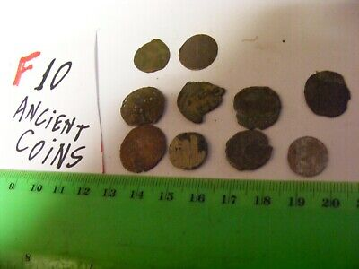 Lot of 10  worn mixed conditions Ancient  mostly Roman Coins(F).