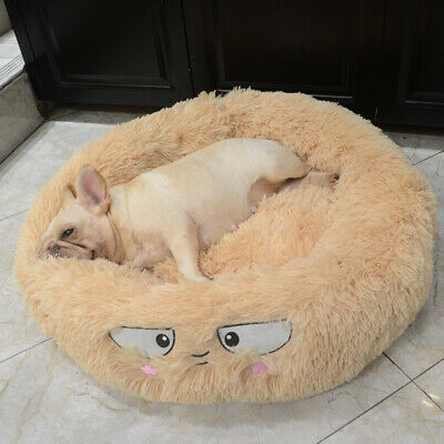 UK  Round Comfy Calming Dog/Cat Bed Super Soft Plush Pet Bed Marshmallow Cat Bed