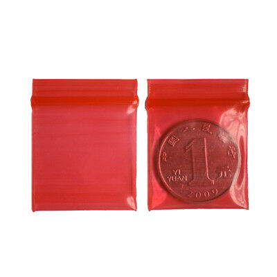 100x 3*4cm Jewelry coin Ziplock Zip Zipped Lock Reclosable Plastic Poly BagsHGU