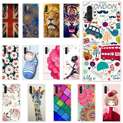 For Samsung Galaxy Note 10+ 9 8 5 4 3 Slim Soft Silicone Painted TPU Case Cover