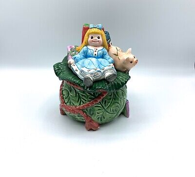 Fitz and Floyd Classics Old Fashioned Christmas Covered Dish Girl Sack Presents