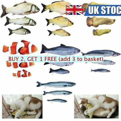 Cat Playing Toy Realistic Pet Kitten Fish Shape Interactive Playing Catnip Toy