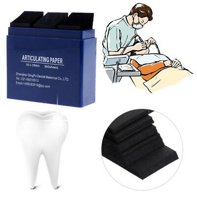 1*Dental Bausch Articulating Paper Double Sided Blue 300 Strips 200 Micron HA2