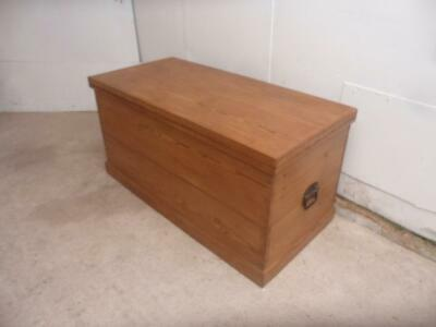 A Superbly Waxed Victorian Antique/Old Pine Large Coffer Box/Coffee Table