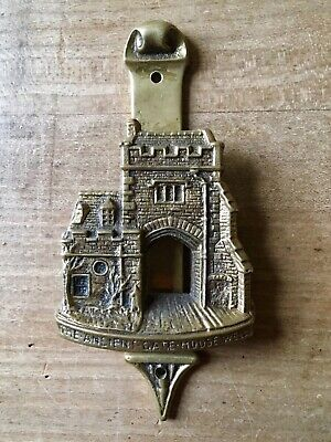 Vintage Brass Door Knocker The Ancient Gate House Wells Small