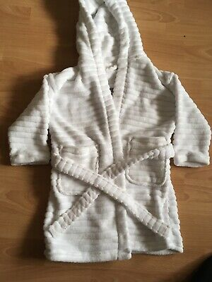 White Embroidered Dressing Gown From Next Age 3-4 104cm