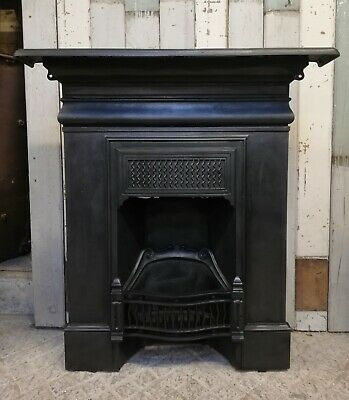 An Attractive Victorian Antique Cast Iron Combination Fire Fc0066