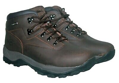 Mens Walking Hiking Lace Up Boot Brown Size 10