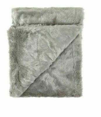 Collection Luxury Faux Fur Throw Grey