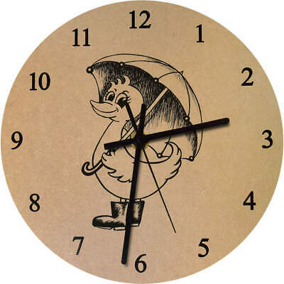 'Rainy Day Duck' Printed Wooden Wall Clock (CK025238)