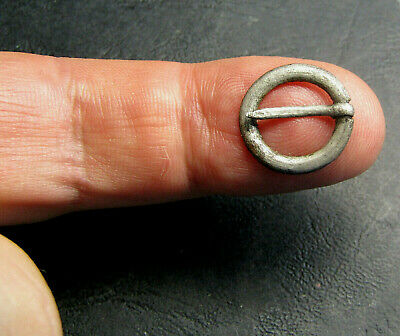 Ancient Silver Fibula Brooch. Small.