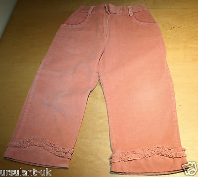 Enrico Covery Peach Pink Needlecord Trousers 3 Years Very Good Condition