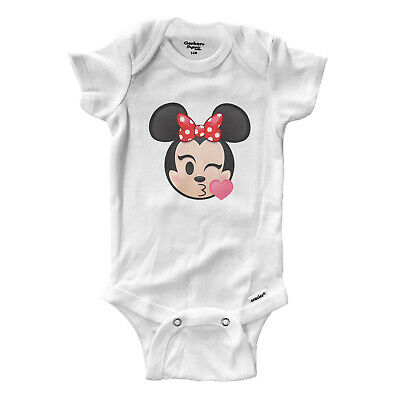 Minnie Mouse Kissy Face Wink Infant Gerber Onesies Bodysuit Baby Gift Shirt 0/24