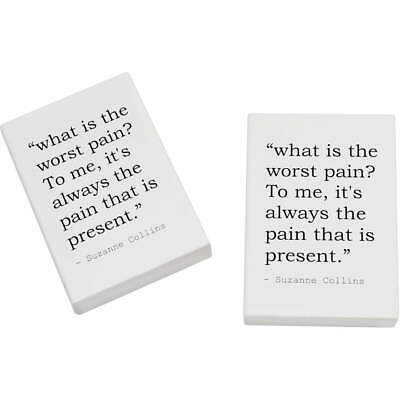 2 x 45mm Quote By Suzanne Collins Erasers / Rubbers (ER00019377)