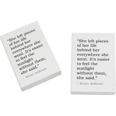 2 x 45mm Quote By Brian Andreas Erasers / Rubbers (ER00008461)