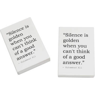 2 x 45mm Quote By Muhammad Ali Erasers / Rubbers (ER00017218)